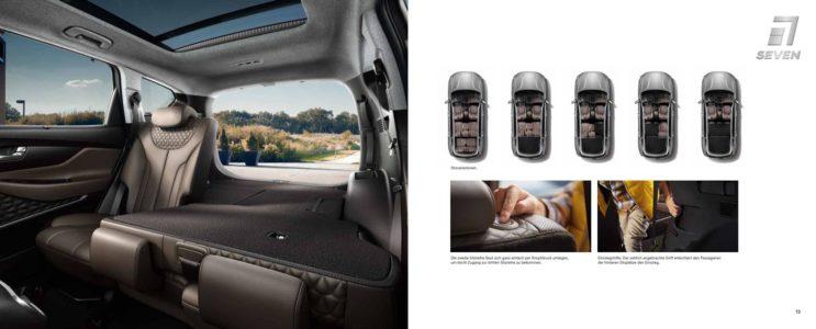 Hyundai Santa Fe rücksitze