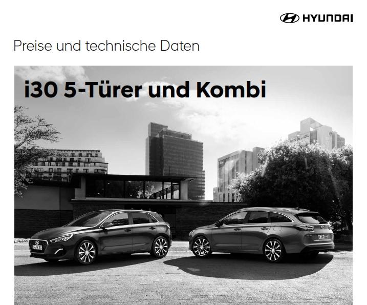 Hyundai i30 Prospekt Preise PDF